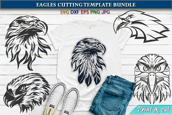 Eagles Cutting SVG Template Bundle