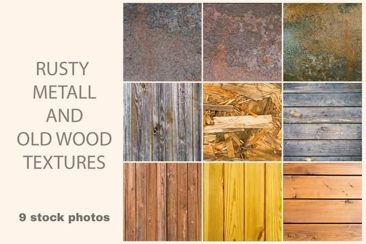 Metal and wooden texture