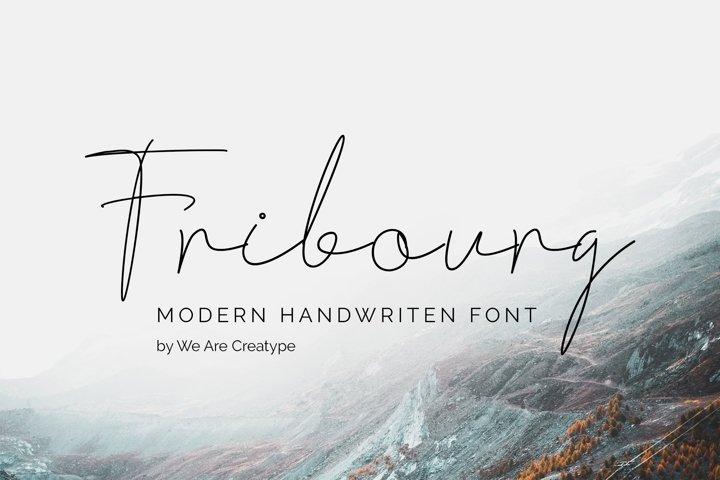 Fribourg | Handwritten Signature Font