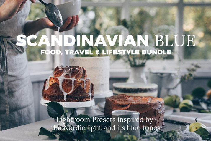 Scandinavian Blue Lightroom Desktop Preset Bundle
