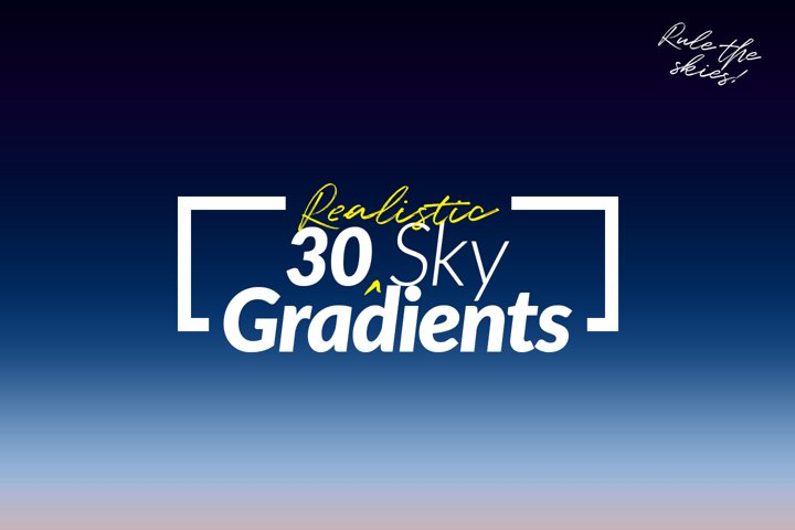30 Realistic Sky Gradients for Photoshop & Illustrator