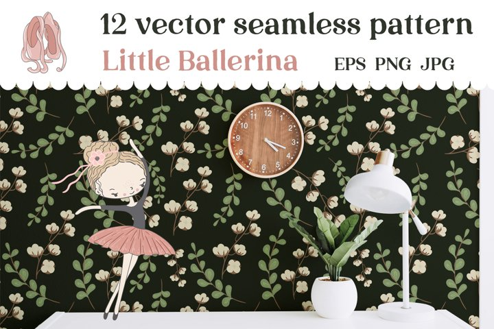 Little Balerinas Seamless patterns