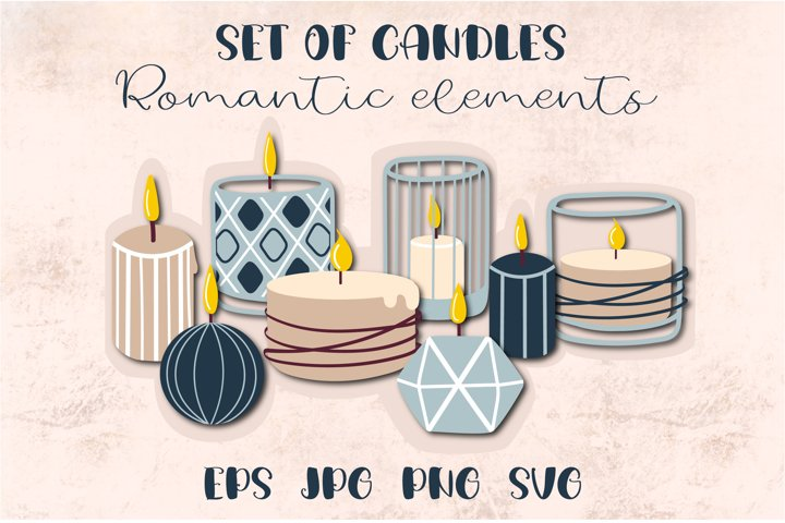Candles SVG | Burning candle clipart | Files for cricut