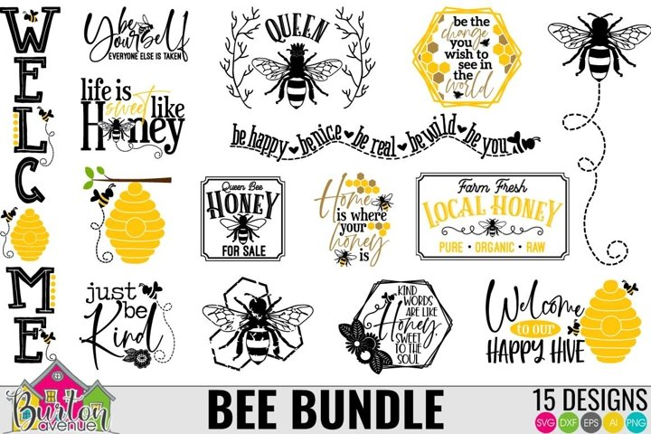 Bee SVG Bundle