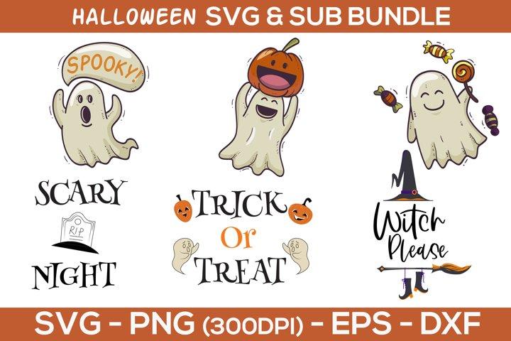 Halloween Bundle SVG - Sublimation clipart - Sublimation mug
