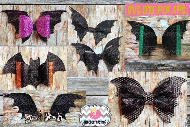 Halloween Bat Bow Bundle, Halloween Bow, Batwing Bow