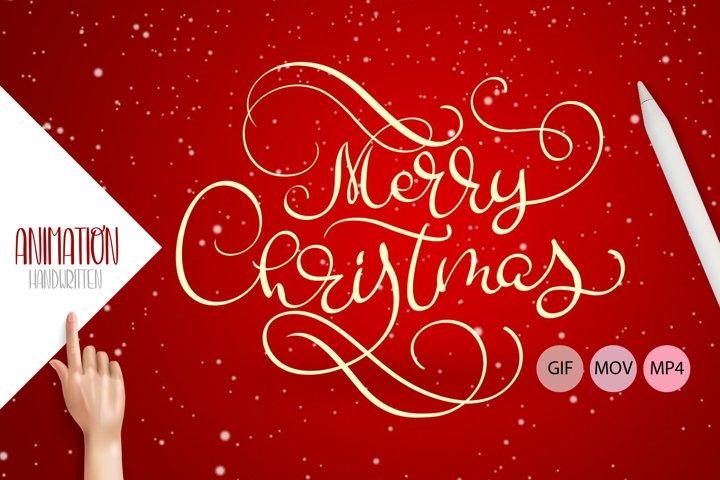 Animation Hand Drawn Merry Christmas