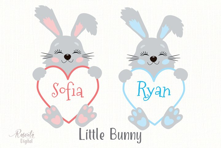 Cute Little Easter Bunny Clipart 5