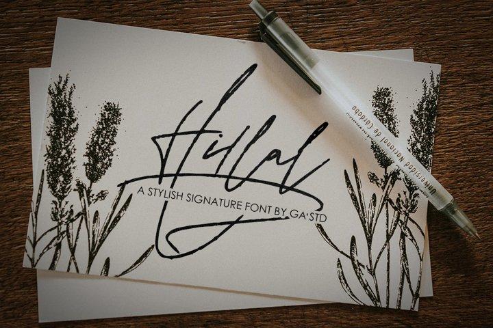 Hillal - A Stylish Signature Font
