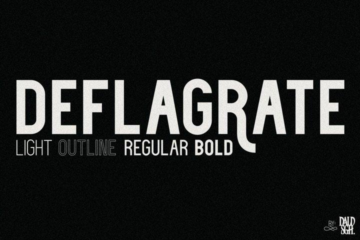 Deflagrate Fonts