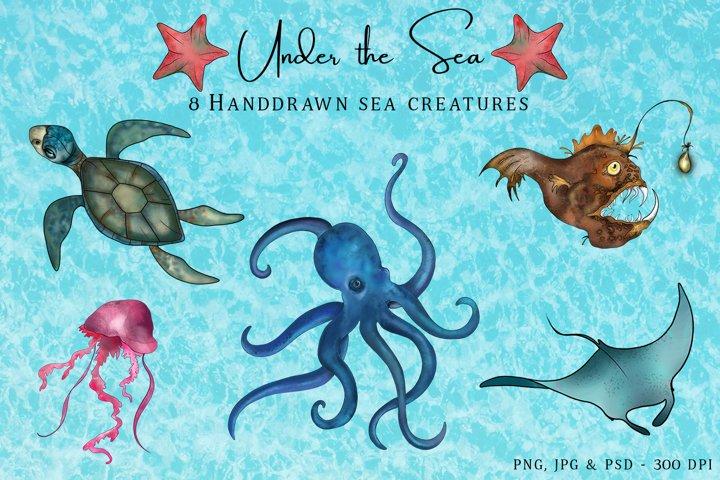 Under the Sea - Hand Drawn Ocean Creatures