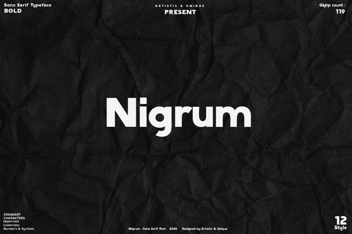 Nigrum - Sans Serif font Family