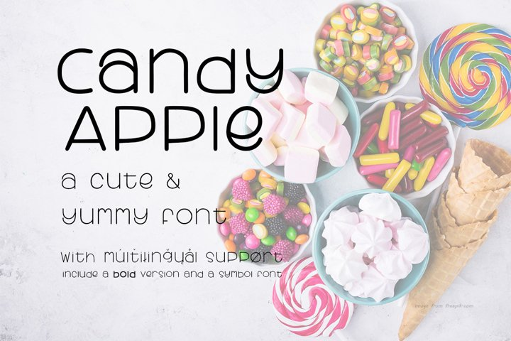 Candy Apple   A Cute and yummy font
