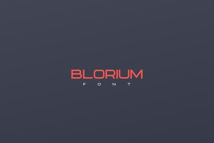 BLORIUM font