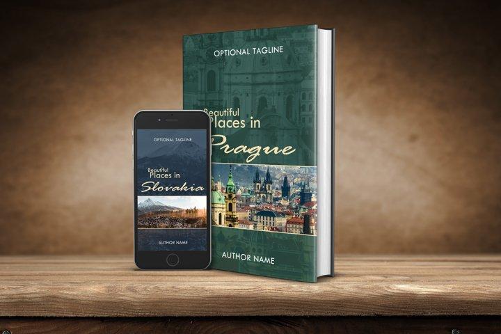 Premade non-fiction ebook cover for travel book or photobook