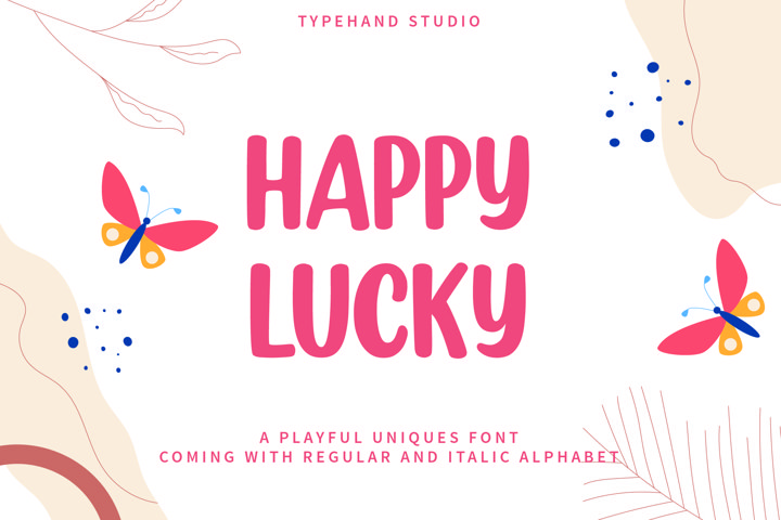 Happy Lucky - Playful Unique Font