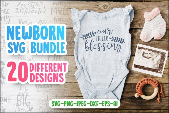 Newborn SVG Bundle - 20 Different Designs