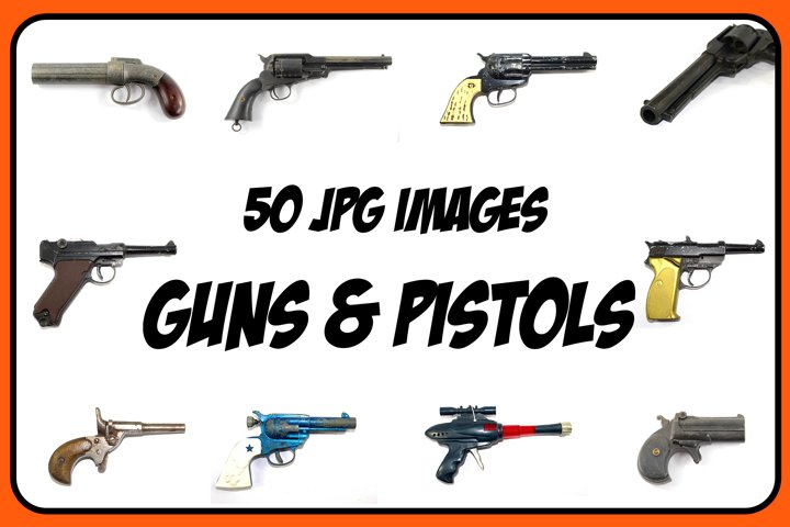 50 JPG Images of Real and Toy Guns and Pistols!