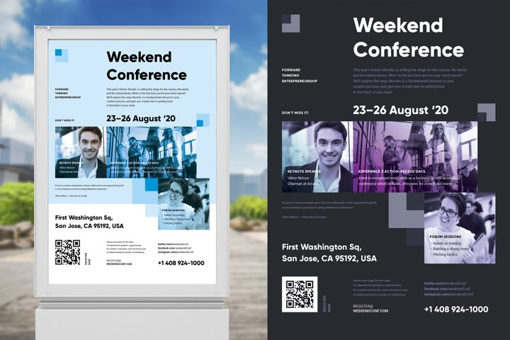 Weekend Conference Poster Template