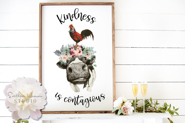 KINDNESS IS CONTAGIOUS - PNG