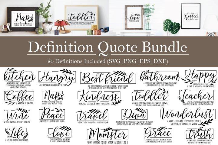 Definition Quote Farmhouse Style SVG Bundle | 20 designs!