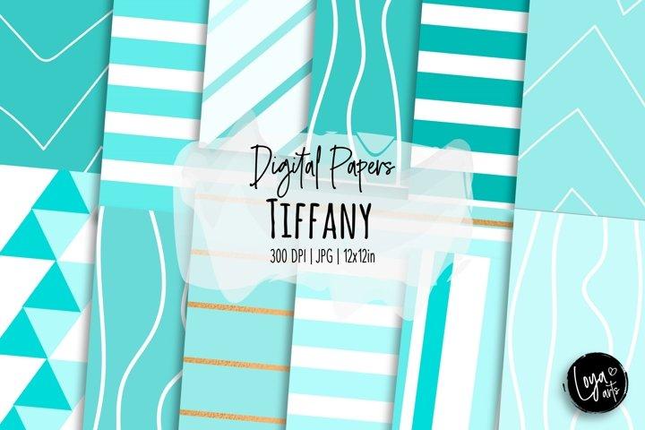 Tiffany Digital Papers Set