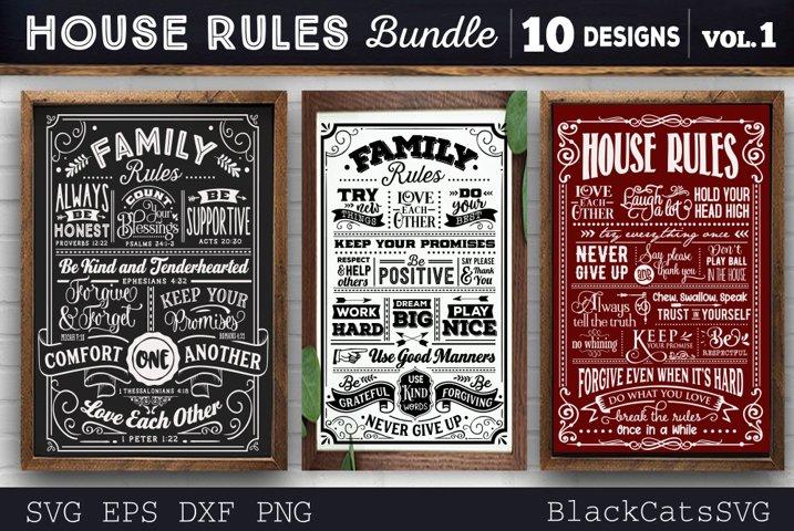 House Rules Bundle SVG 10 designs vol 1