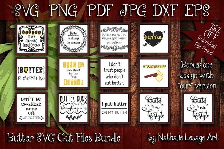 Butter SVG Cut Files Bundle High Fat Lifestyle Kitchen Craft