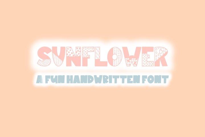 Sunflower | Bold Quirky Hand Written Font