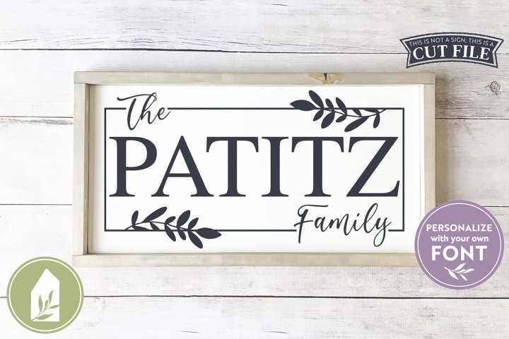Family Name SVG Files, Last Name Sign SVG