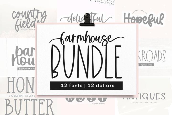 Farmhouse Font Bundle - Handwritten Fonts | Part 2