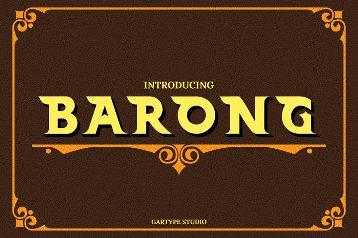 Barong Font and Bonus // Web Font