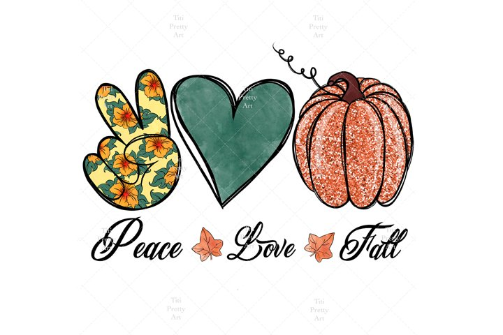 Peace Love Fall, Happy Fall Yall PNG, Fall Is In The Air