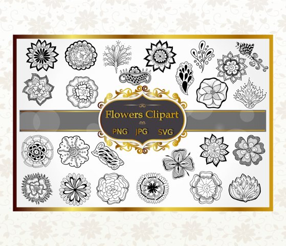 Flower Vector Clipart Collection