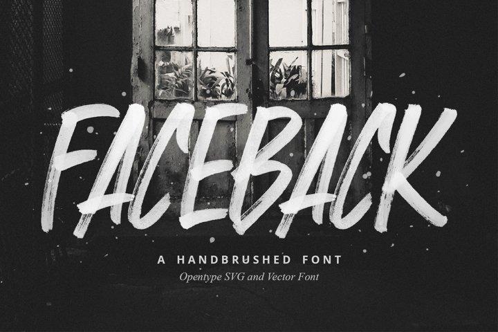 Faceback - SVG Brush Font