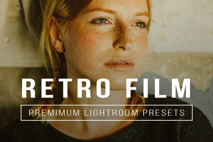 5 RETRO FILM Lightroom Mobile and Desktop Presets Premium