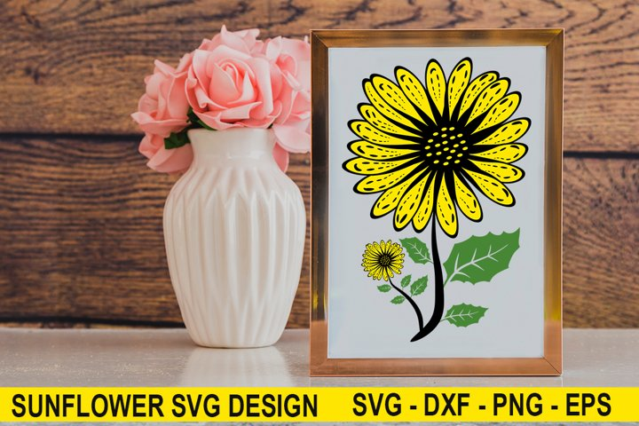 Sunflower SVG,DXF PNG EPS