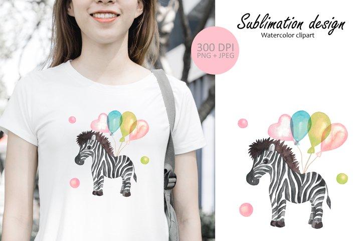 Baby Zebra print sublimation design