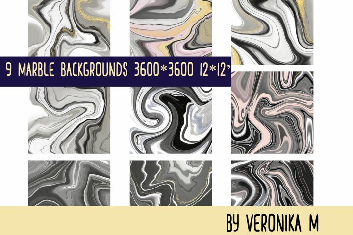 Marble backgrounds. Digital paper pack.