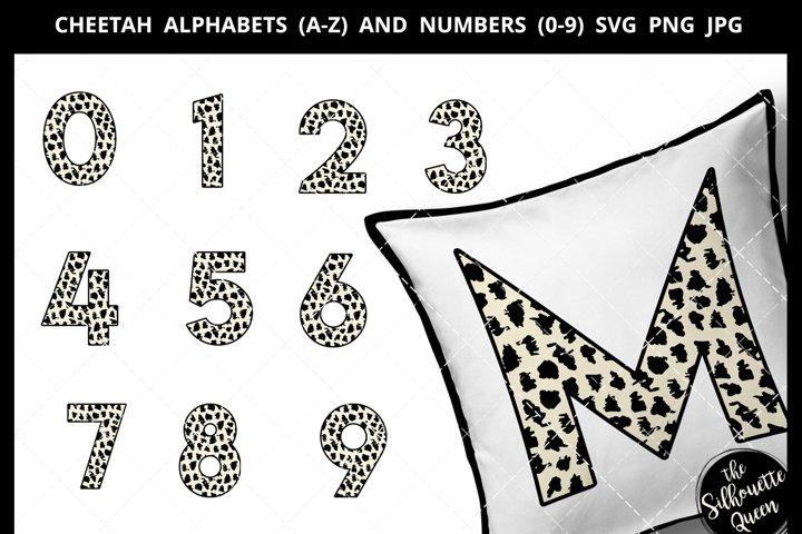 Cheetah Alphabet Number SVG Cut File
