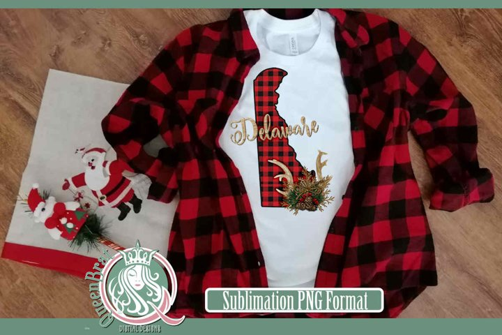 Sublimation | Delaware Plaid Christmas State