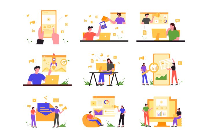 Digital Marketing Illustration Vol 1
