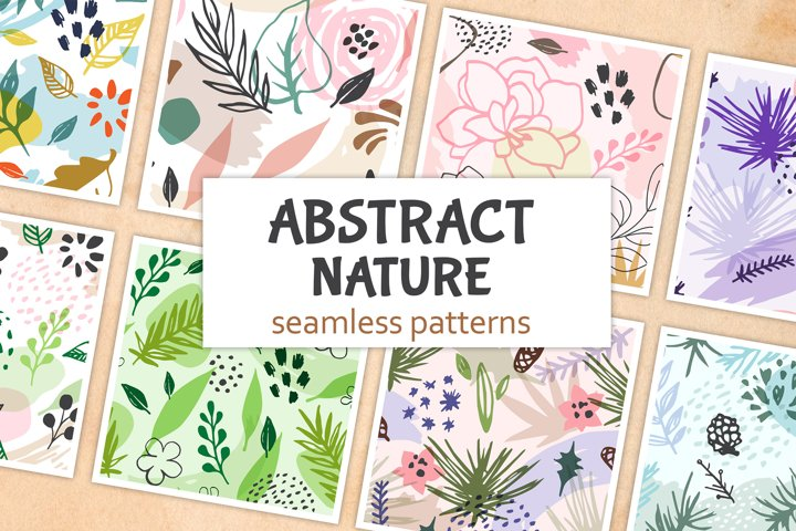 Abstract Seasonal Floral Patterns