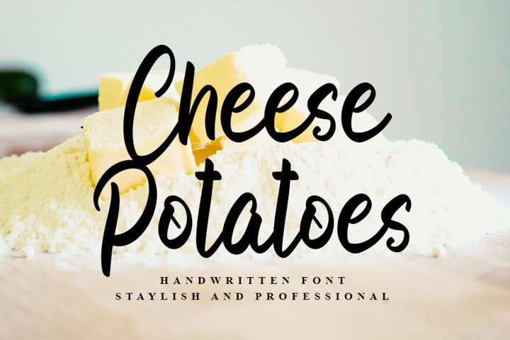 Cheese Potatoes |Beautiful Handwritten Font