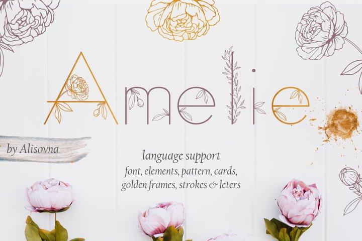 Amelie Floral Display Font