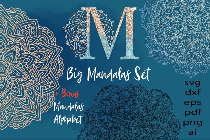 Mandalas Big Set svg
