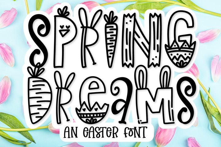 Spring Dreams - An Easter Word Art Font!