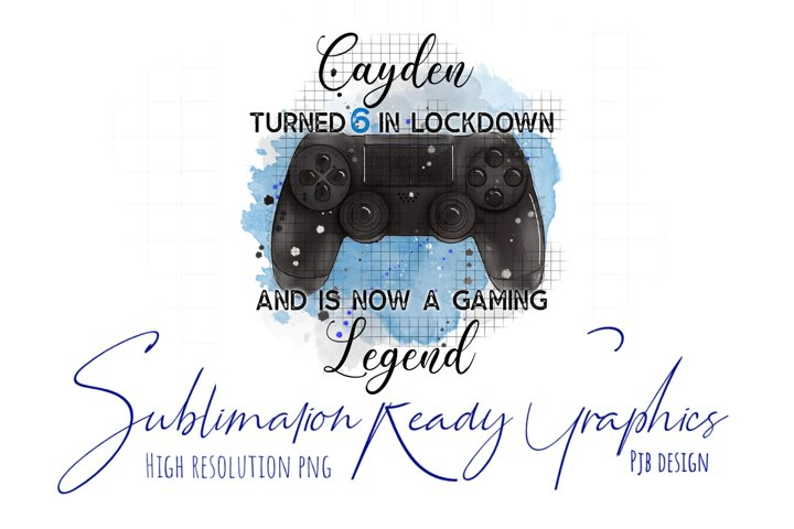 Gaming Legend Multi Use Design Themed Sublimation Ready