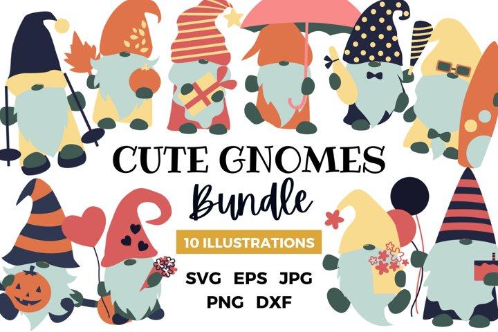 Cute Gnomes Bundle Sublimation Design | Celebration Gnomes