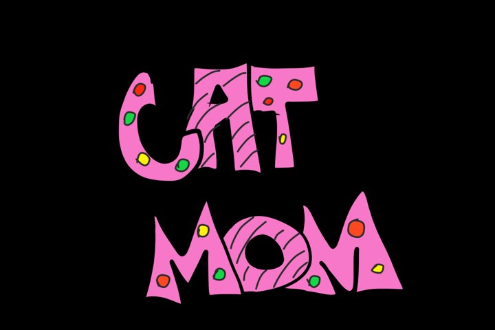 Hand drawn Cat Mom PNG TRANSPARENT